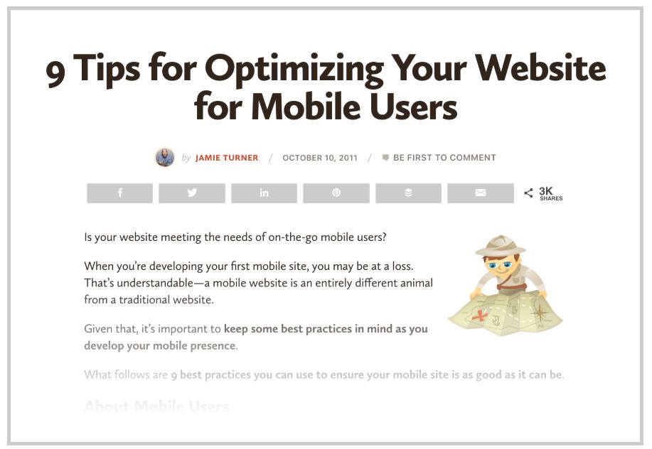 9 tips for optimizing website