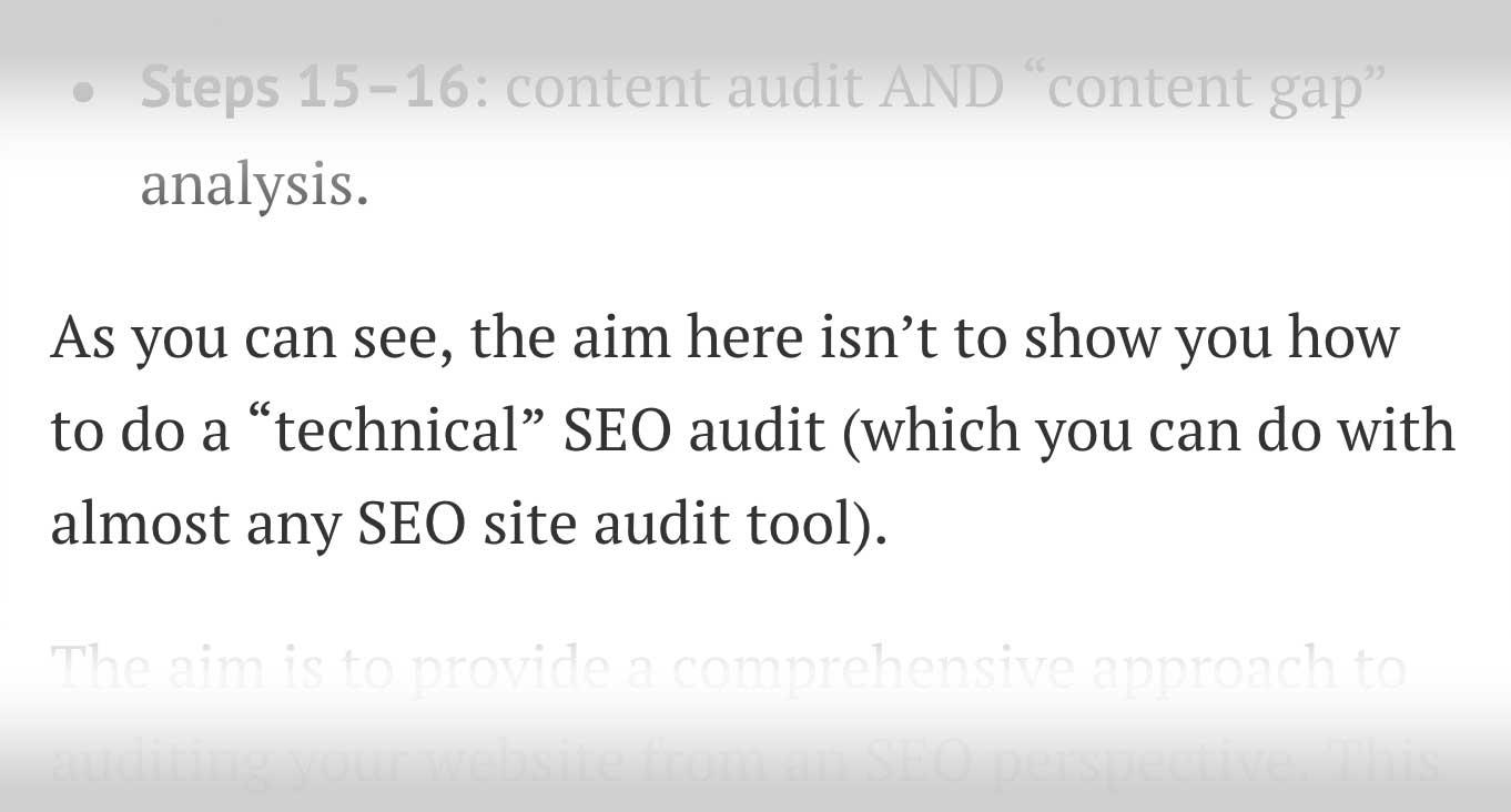 content audit & content gap
