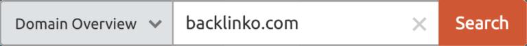 وارد کردن سایت در semrush