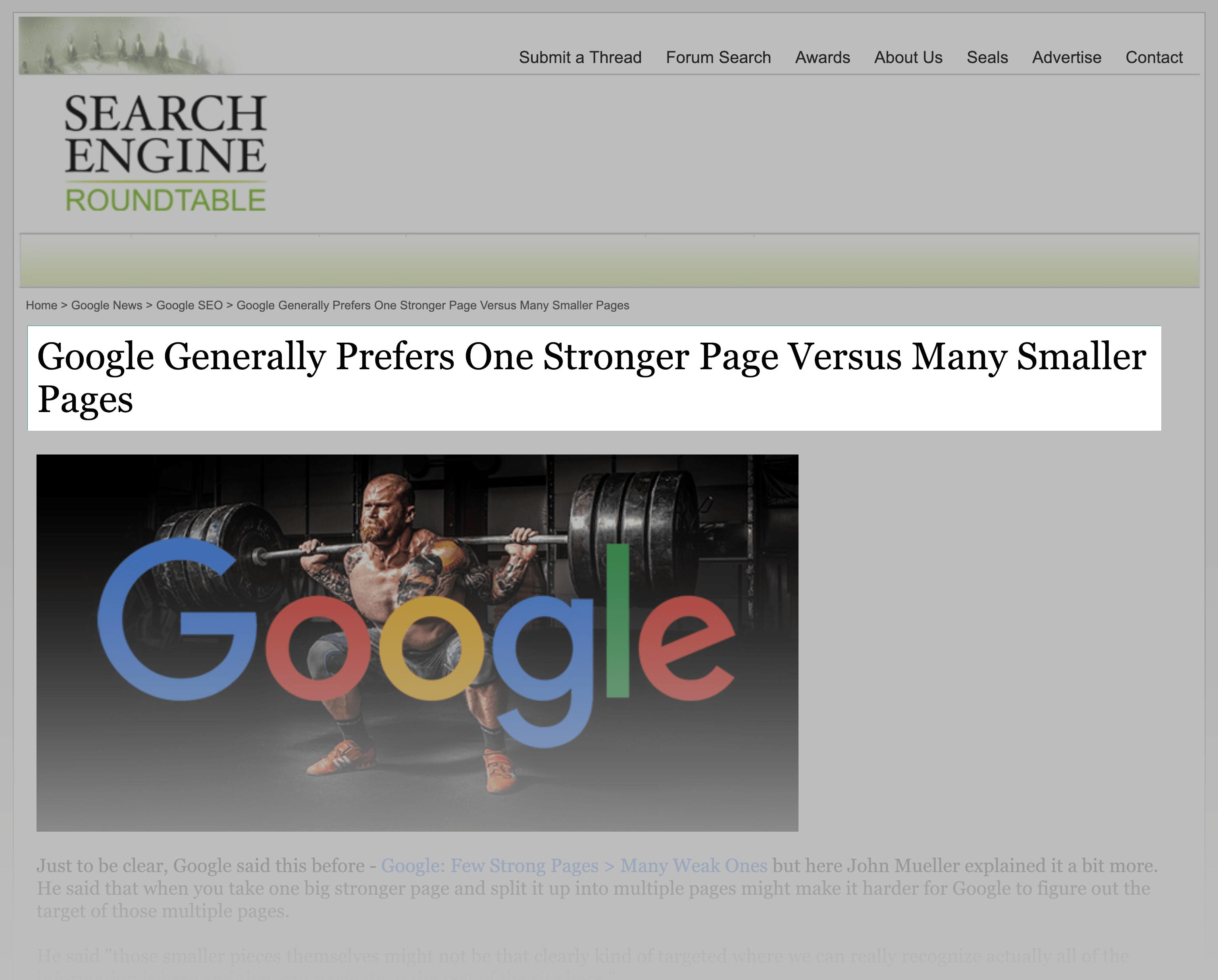 صفحات زیاد داشتن در سایت