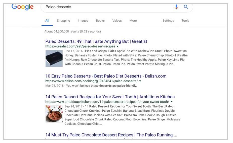 paleto desserts serp