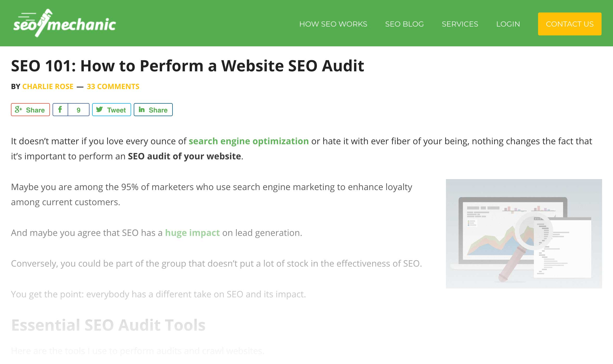 post about seo audit