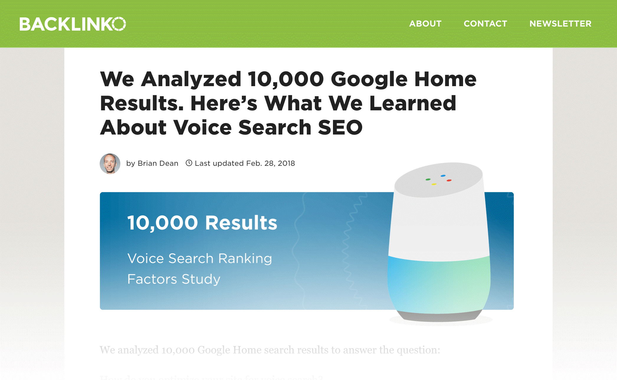 post of charts voice search