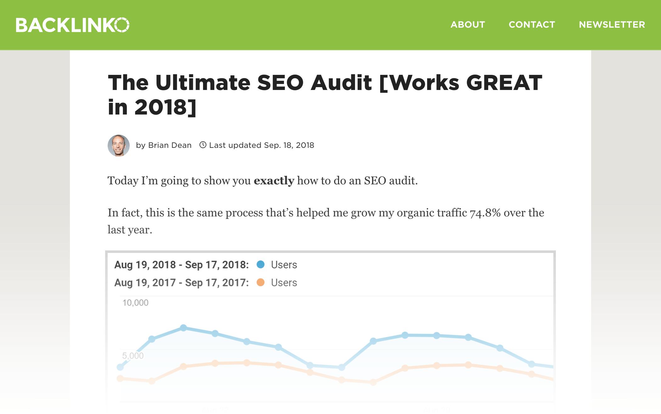 بخش حسابرسی سایت SEO