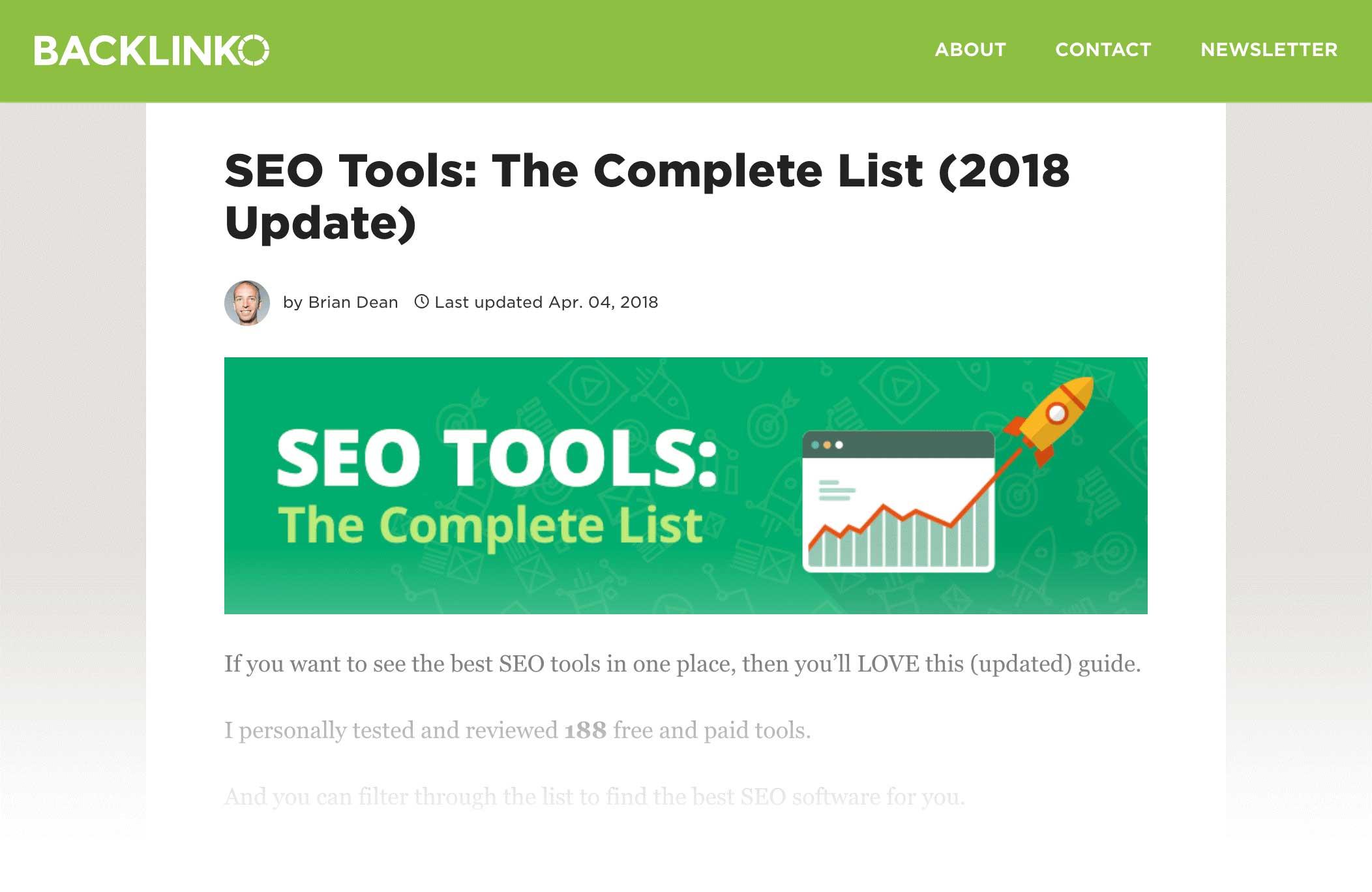 seo tools complete list