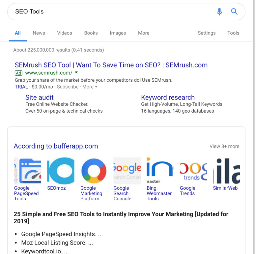 ابزار سئو در گوگل