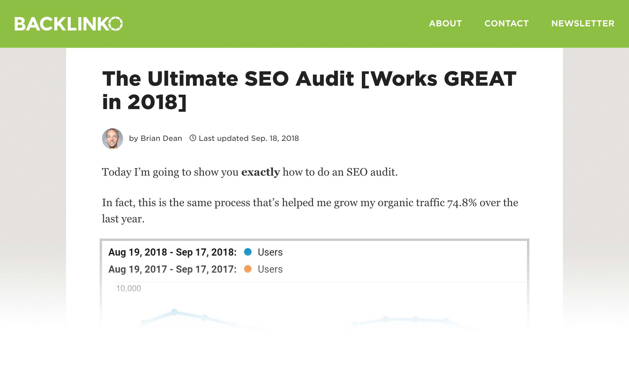 the ultimate seo audit update post