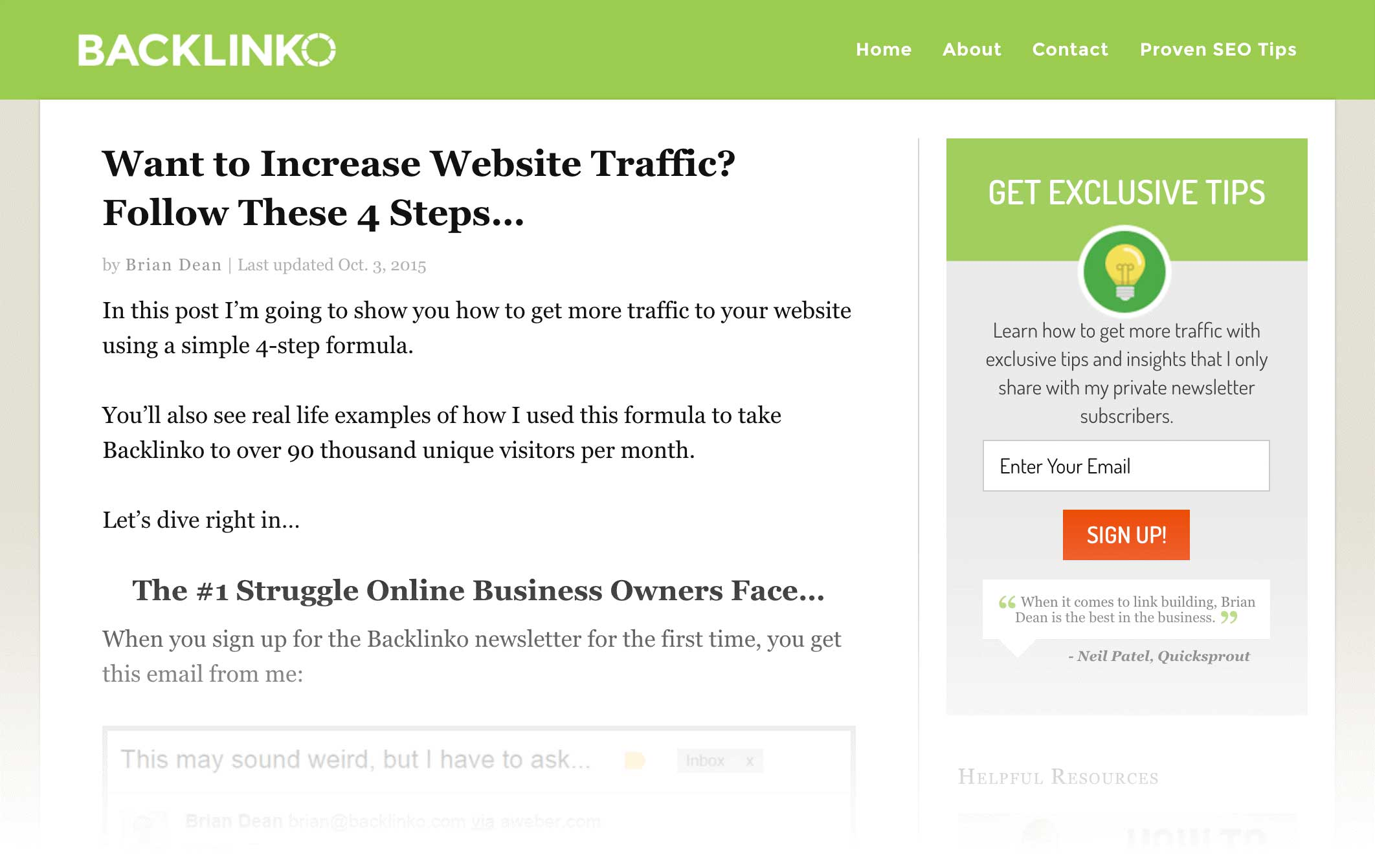 want to increase site traffic