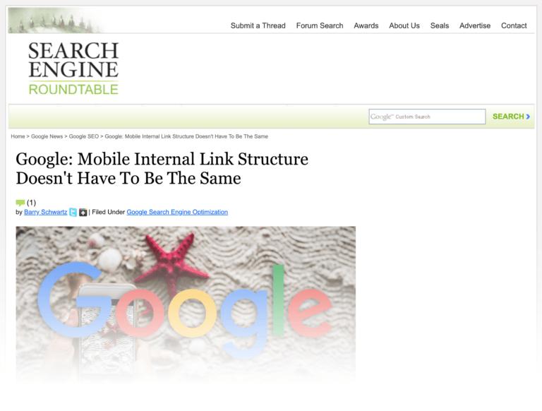 لینک سازی داخلی در ورژن موبایل و دسکتاپ