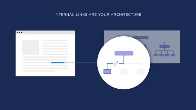 معماری سایت با لینک سازی داخلی