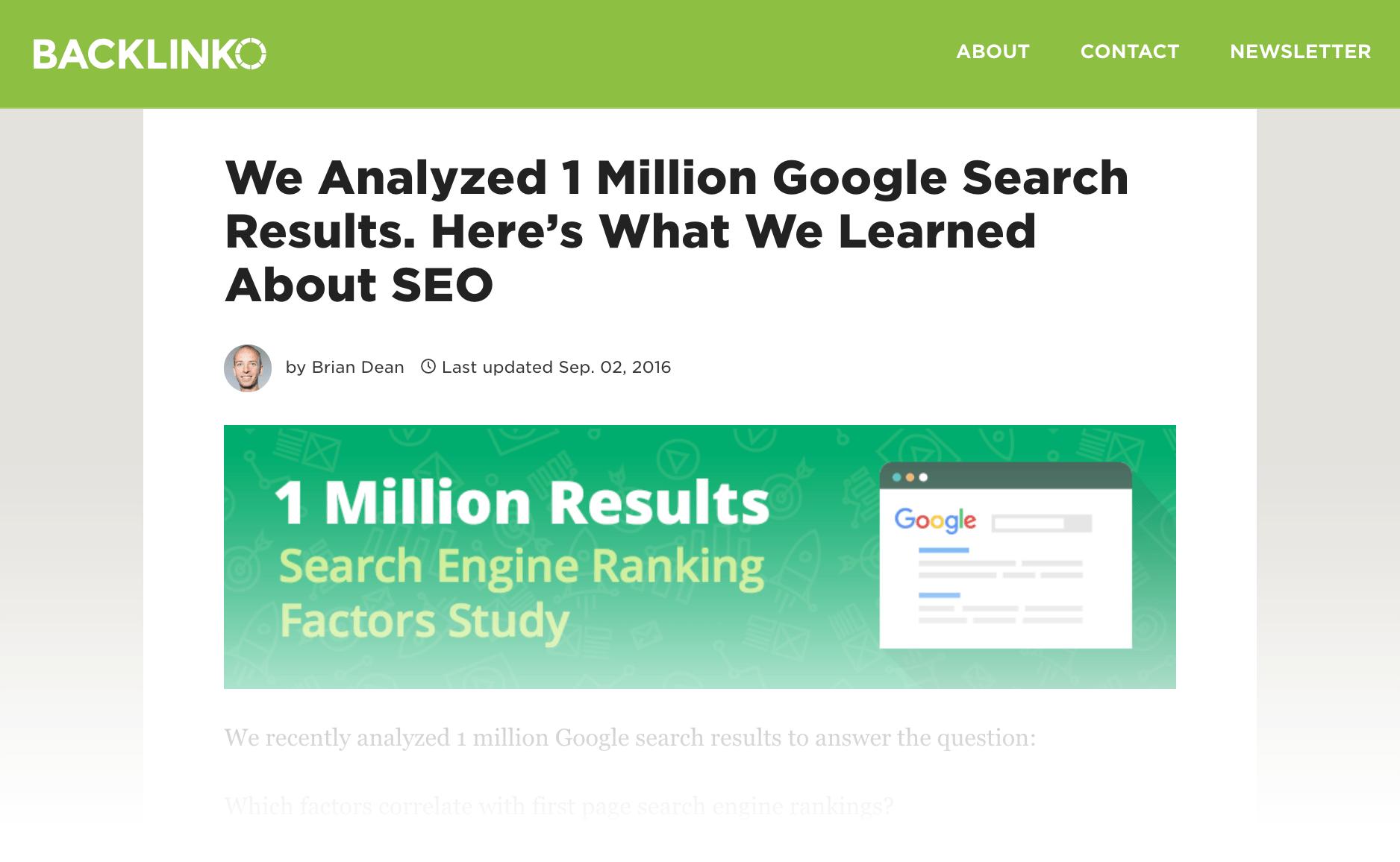 مطلبی در مورد همبستگی فاکتورهای رتبه بندی گوگل