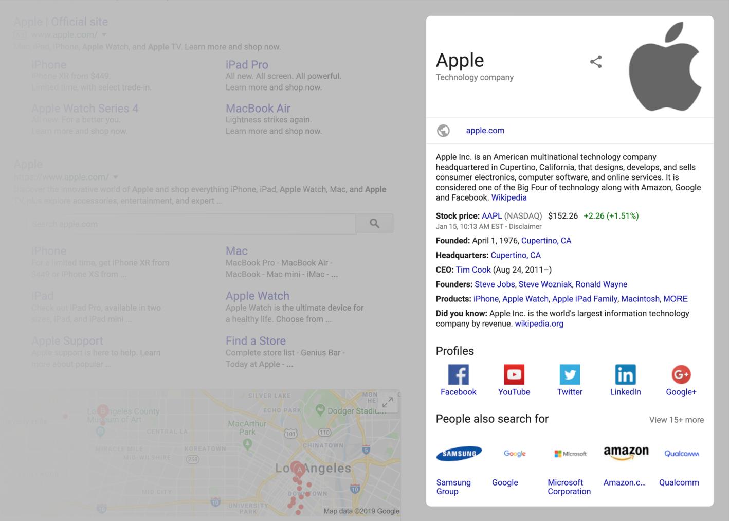 اسنیپت سازمان در نتایج گوگل