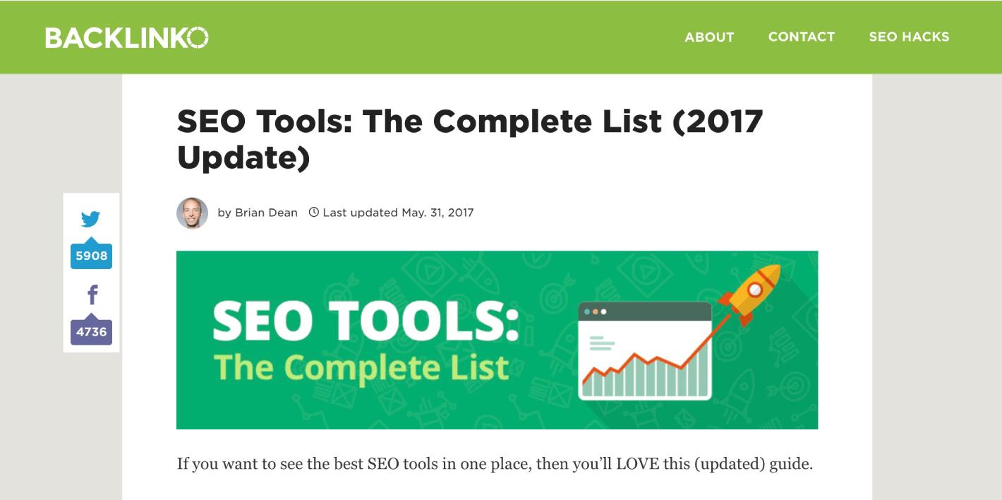 ابزار سئو: لیست کامل