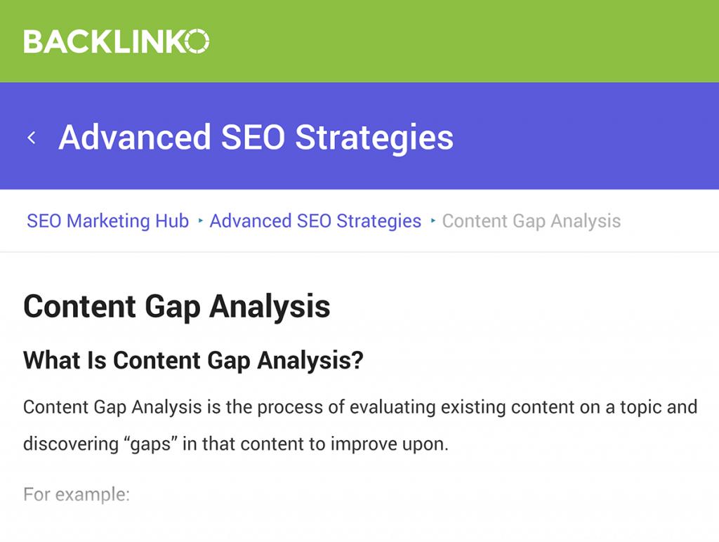 سئو هاب content gap آنالیز