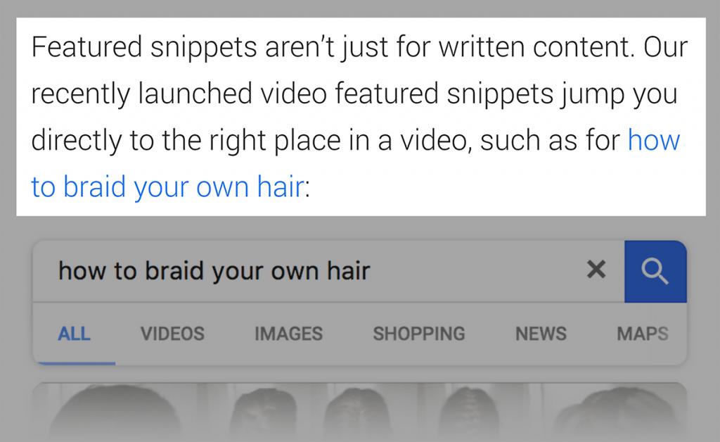 ویدئو فیچر اسنیپت در بلاگ گوگل