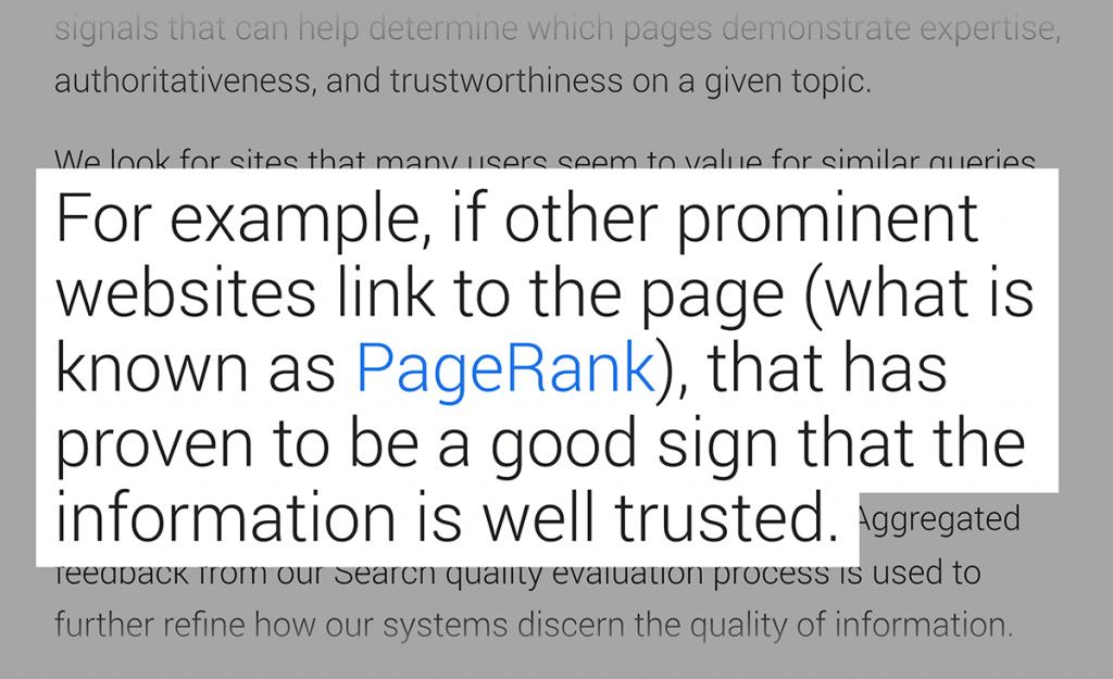 گزارش اهمیت لینک ها در نتایج گوگل