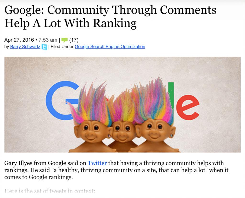کامنت ها به رشد رتبه بندی سایت شما کمک می کنند