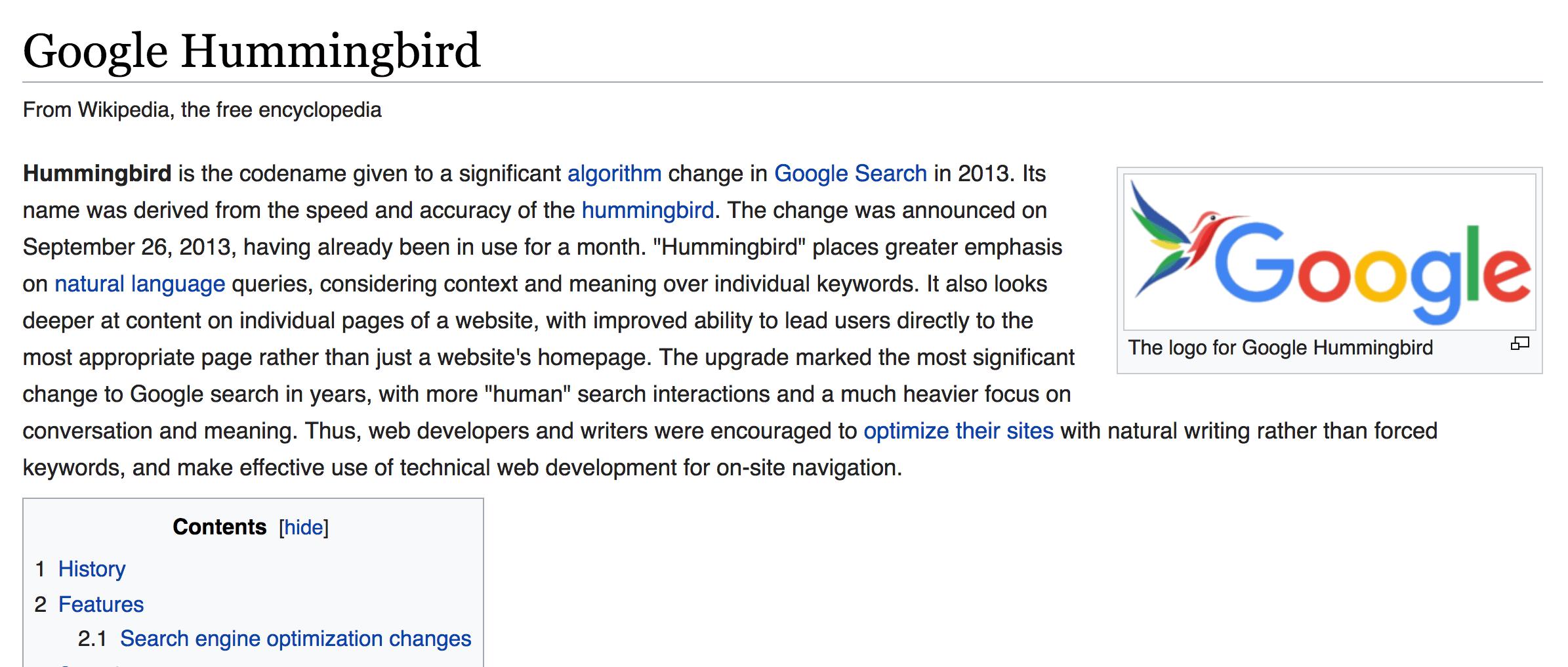 ویکی پدیا مرغ مگس خوار گوگل