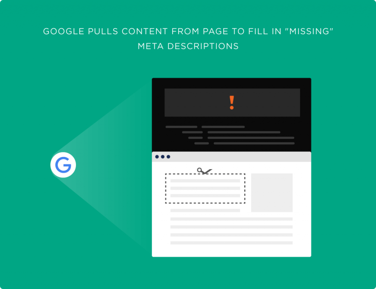 گوگل از داخل محتوا یک قسمت را برای پر کردن توضیحات متای مناسب انتخاب می کند