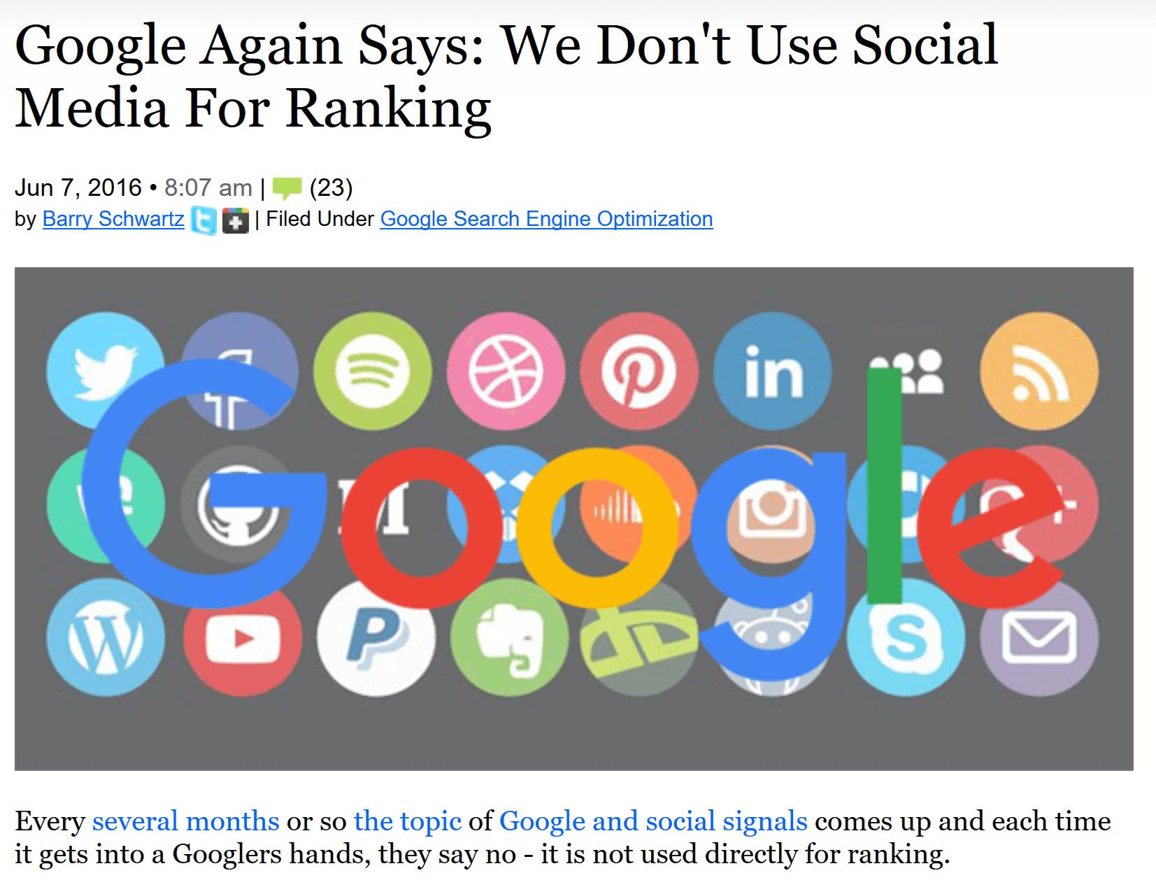 سوشیال سیگنال های شبکه اجتماعی گوگل