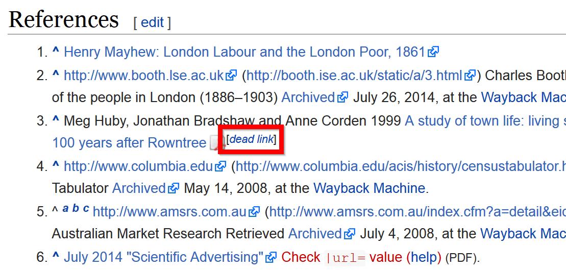 لینک شکسته ویکی پدیا
