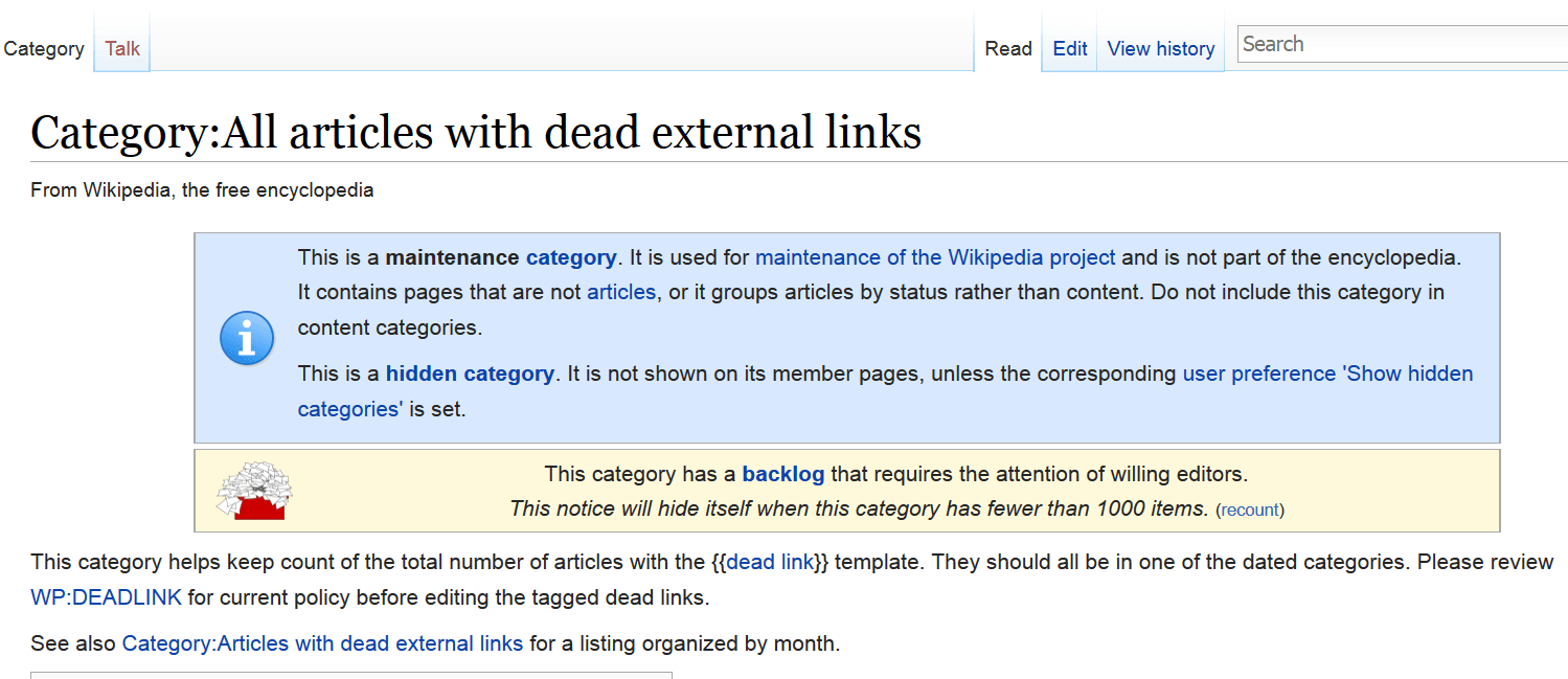 صفحات دارای دد لینک ویکی پدیا