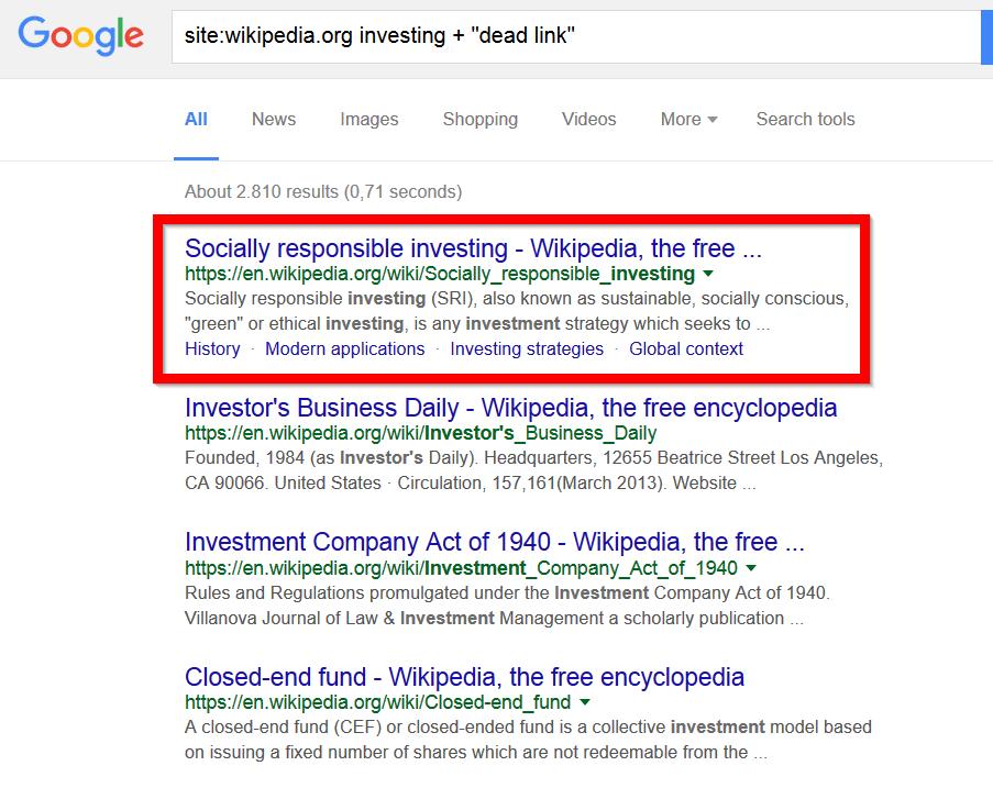 اطلاعات ویکی پدیا در گوگل