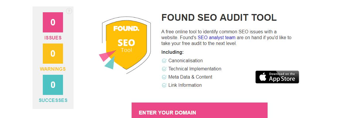 Found-seo-audit-tool